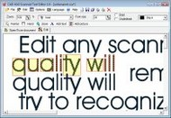 Scanned Text Editor screenshot